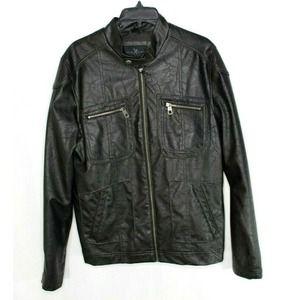 Marc Ecko Moto Jacket Small Black Vegan Leather